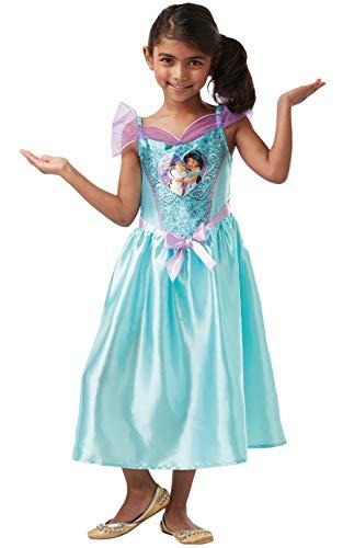 zielles Disney Prinzessin Pailletten Jasmin Kostüm Kinder Größe S Alter 3-4 Jahre, Höhe 104 cm, mehrfarbig ()