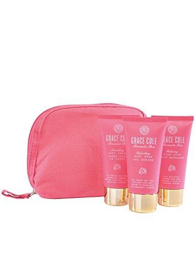 Grace Cole Rose romantique 4 - Pc Gift Set for Her : Sac à main crème Body Wash Bain moussant