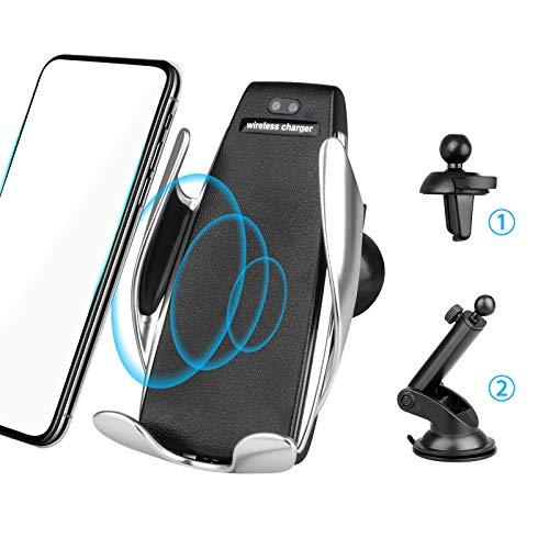 EEEKit Wireless Automatic Clamping 7.5W / 10W Qi Veloce Car Charging Phone Holder Air Vent Dashboard Parabrezza per iPhone, Samsung e Tutti i dispositivi Q