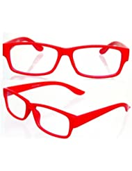 NERD® Brille Extra Schmal ,, Rot,,