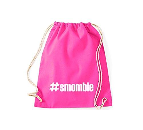 Shirtstown Turnbeutel #smombie hashtag pink