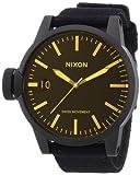 Nixon Herren-Armbanduhr XL The Chronicle Matte Black/Orange Tint Analog Quarz Textil A1271354-00