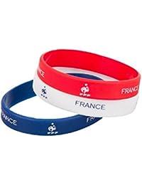 bijouparis Bracelet supporter coupe du monde 2018 silicone drapeau France le bleus griezmann lot de 3