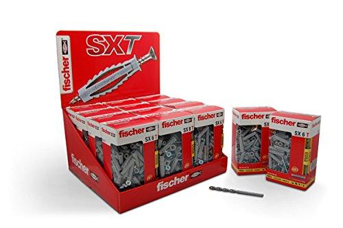 fischer-100-chevilles-en-nylon-sxt6-avec-vis-45-x-40-mm