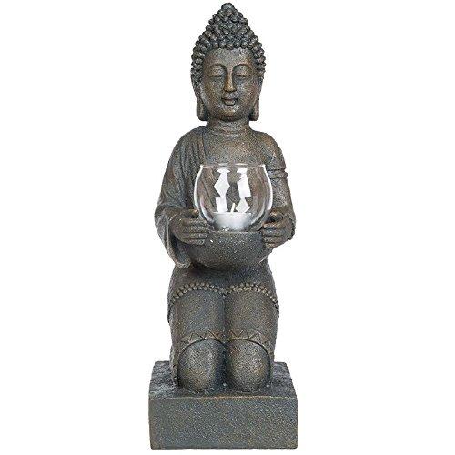 Teelichthalter Buddha Feng Shui Esoterik Buddhismus Deko Figur Dekoration