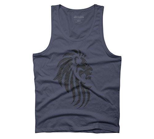 Design By Humans  Herren T-Shirt Gr. S, Blau - Navy (Designer-navy Lion T-shirt Top)