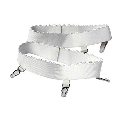Generic Damen Bein-Hüfthalter Strumpfband Gürtel Zubehör Weiß-S