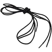 Boheng Cotone cerato tondo lacci delle scarpe 60 a 120 cordoncini sottili in lunghezze cm per scarpe e stivali size 120cm (nero)