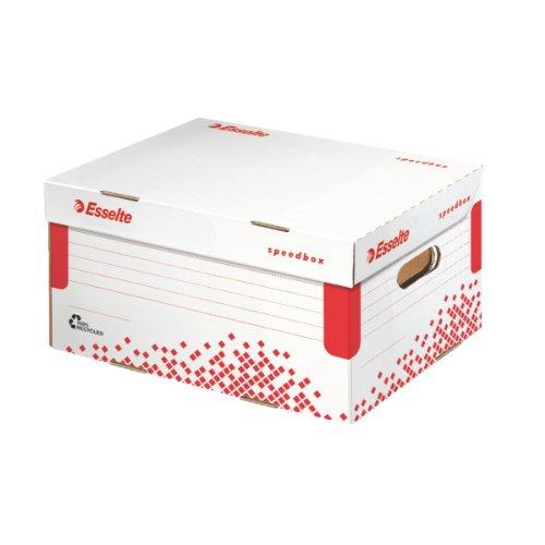 Esselte scatola archivio e trasporto, small, cartone riciclato e riciclabile, priva di acidi, bianco, speedbox, 623911