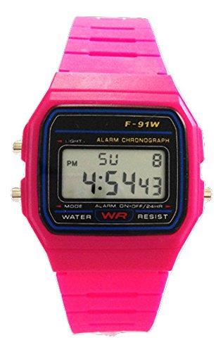 Accessoriesbysej orologio da polso vintage retro colore misto - quadrante 3,6 centimetri - digitale