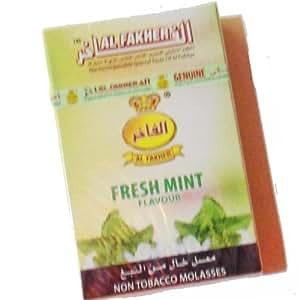 AL Fakher gout Menthe fraîche NARGUILE Chicha Melasse Shisha tabac 0% de nicotine 50g