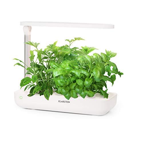 Klarstein GrowIt Flex • Jardin d'intérieur intelligent • Potager hydroponique • Jusqu'à 9 plantes en 25 à 40 jours • Système LED et irrigation automatique • Réservoir 2L • Grow It Smart!