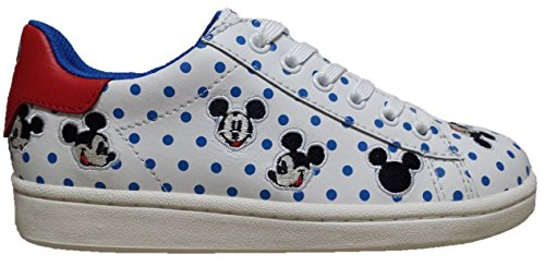 MOA MASTER OF ARTS MDJ 17 ACTION LEATHER WHITE BLUE DOTS SNEAKER TOPOLINO POIS BLU