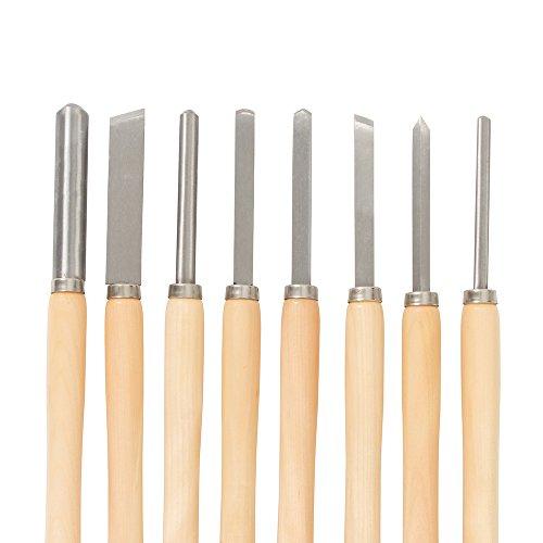 Silverline 303159 Juego de Gubias, 360 mm Longitud, 8 Piezas