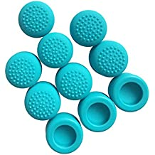 FNT 10Pieces Thumbstick Slilicone Caps For Nintendo Switch Game Controller Blue
