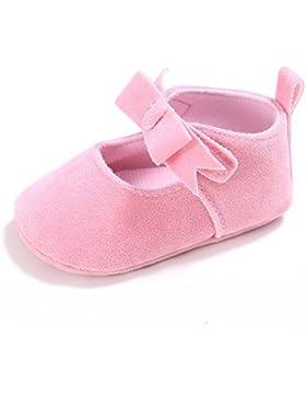 ESTAMICO Neugeborene Baby Mädchen Weiche Sohle Bowknot Schuhe Kleinkind Prewalker Sneakers