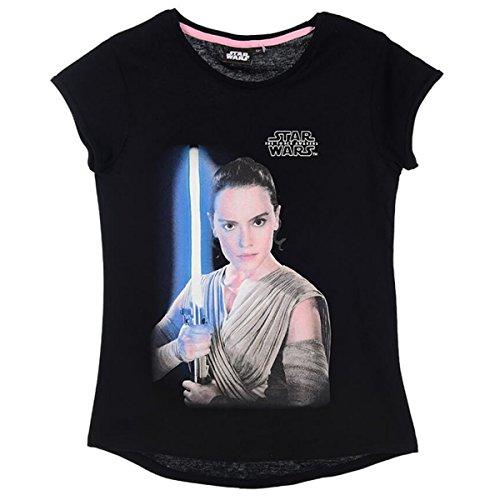 Star Wars Mädchen T-Shirt Gr. 8 Jahre, schwarz (Mädchen Aus Star Wars)