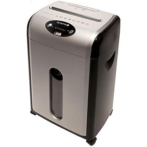 Olympia 2695 ECS 415.4CCD Trituradora para cortadura particulada, cubo de basura de 18 litros, tambien para CD y tarjetas de crédito, color