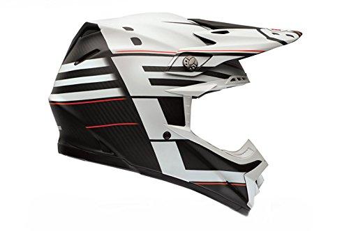 Preisvergleich Produktbild Bell Moto-9 Kohlefaser Flex Blocked Motocross Helm - Matte Schwarz Weiß, XL