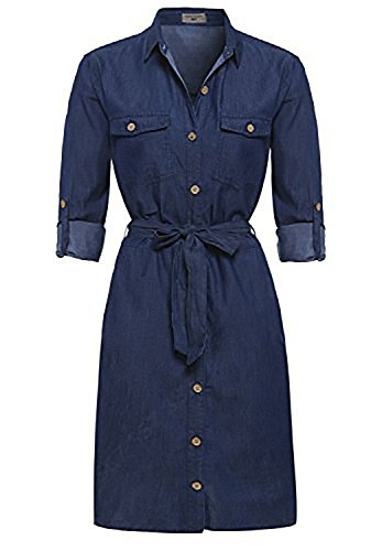 SS7 NEW Denim Indigo Blue Shirt Dress Sizes 8 - 14