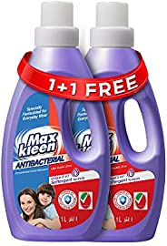 Maxkleen AntiBacterial Concentrated Liquid Detergent with 2in 1 Softergent Formula – For Daily Wear, 1+1
