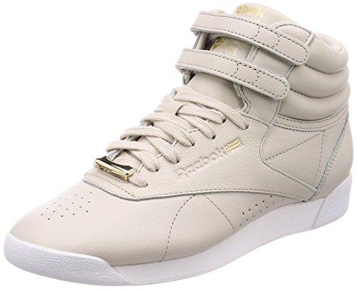 Reebok F/S HI Muted, Zapatillas de Deporte para Mujer, Beige Sandstone/White 000, 37 EU