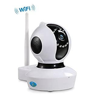 NexGadget HD IP Camera, WiFi Security Surveillance System, with Alarm, 2Way Audio, HD Video Recording, and Sound Recognition, Horizontal and Vertical Motion Detection, P2P