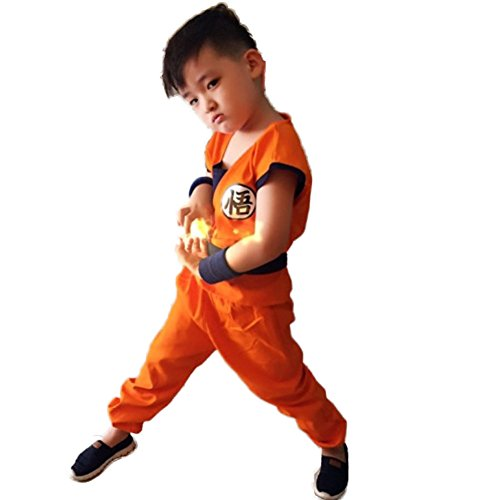 Cosfun Halloween Cartoon Kostüm Dragon Ball Goku Weihnachten Cosplay Kostüm für Kinder und - Diamant Kostüm Kinder
