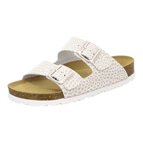 AFS-Schuhe AFS-Schuhe 2100, Bequeme Damen Pantoletten echt Leder, praktische Arbeitsschuhe, Hausschuhe, Handmade in Germany Größe 36 EU Beige (beige/Crocco)