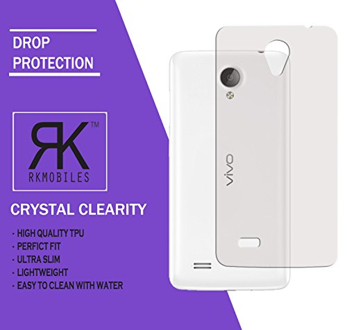 VIVO Y21 Ultra Thin 0.3mm Clear Transparent Flexible Soft TPU Slim Back Case Cover (For VIVO Y21)