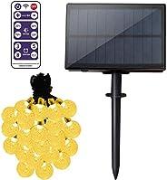 كرات إضاءة جنية بالطاقة الشمسية من Etmury LED لتزيين الحدائق، والأشجار، والباحة، والكريسماس وحفلات الزفاف، وال