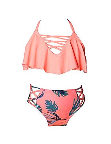 besbomig Mädchen Zweiteiler Bikini-Sets Tankini Set Badeanzug Badebekleidung Bademode Badekleidung Schwimmanzug 2-8 Jahre