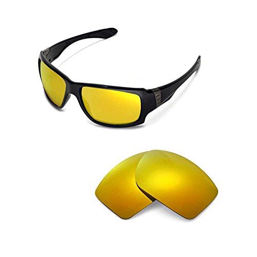 Walleva Ersatzgläser für Oakley Big Taco Sonnenbrille - 13 Optionen (24K Gold Mirror Coated - Polarisiert)