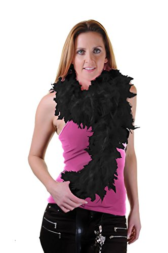 ance Showgirl Hen Night Fancy Dress Zubehör 150cm 115GM, Schwarz (Tanz Kostüme Als Tiere)