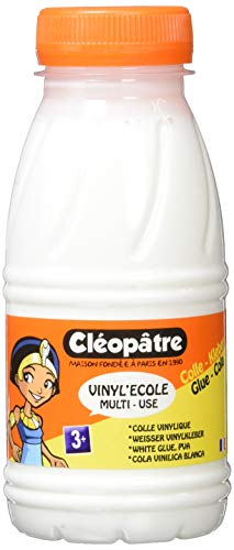 cléopâtre vi250vinyl' Ecole-Flacone di colla vinilica 250g bianco