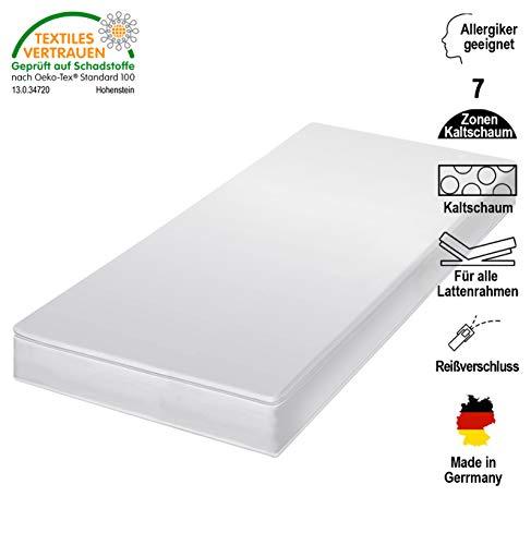 *cpt hydrovital v12 Kindermatratze & Jugendmatratze – Rollmatratze mit Microfaser Bezug – Kaltschaummatratze Made IN Germany – Matratze Härtegrad H3, (H3) 80 x 200 cm*