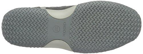 Geox U Happy Art.p, Sneakers Basses Homme Gris (Grey/Bluec0244)