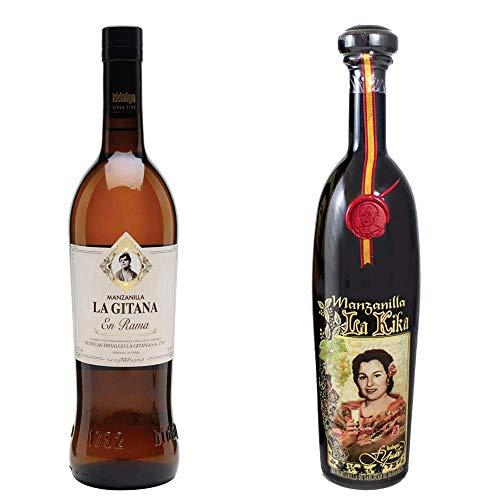 Manzanilla La Gitana En Rama Y Manzanilla La Kika - D. O. Manzanilla De Sanlúcar De Barrameda - 2 Botellas De 750 Ml