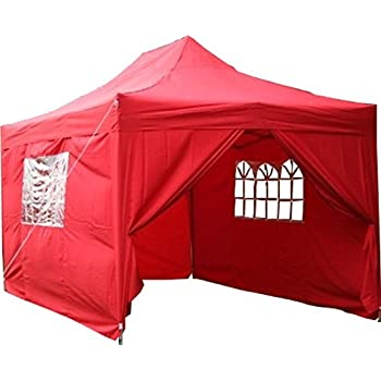 Airwave 3x4.5m Waterproof Red Garden Pop Up Gazebo - Stunning Outdoor Marquee Tent with Carry Bag