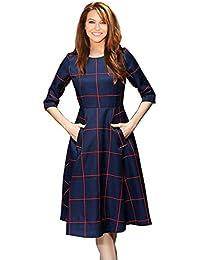 Navy Blue Color Twil Digital Printed Western Dress