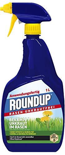 Roundup Rasen-Unkrautfrei AF, Sprühflasche, Spezial- Unkrautvernichter zur Bekämpfung von Unkräutern im Rasen mit sehr guter Rasenverträglichkeit, 1Ltr. -