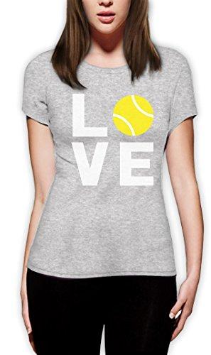 Love Tennis - Sportliches Geschenk für Tennisfans Frauen T-Shirt Grau