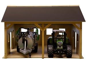 Kids Globe - Juego de construcción de cobertizo de granja en miniatura (escala 1:16)