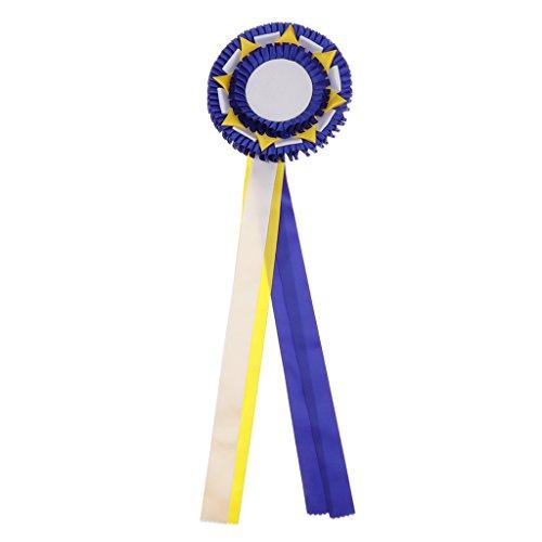 SM SunniMix Horse Rosettes Award Ribbons Reitsportzubehör Blank Prize Ribbon Cloth - Blau