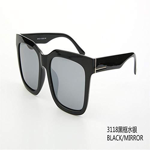 MJ Glasses Sonnenbrillen Koreanische große koreanische Version von Männern und Frauen, A