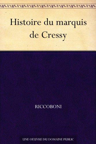 Couverture du livre Histoire du marquis de Cressy