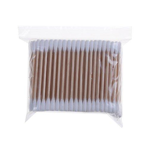 Welecom Lot de 200 Cotons-tiges avec manche en bois pour le maquillage Clean Care