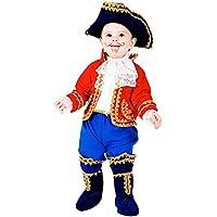 e4baaf482db1 COSTUME di CARNEVALE da PICCOLO CAPITANO vestito per neonato bambino 0-3 Anni  travestimento veneziano