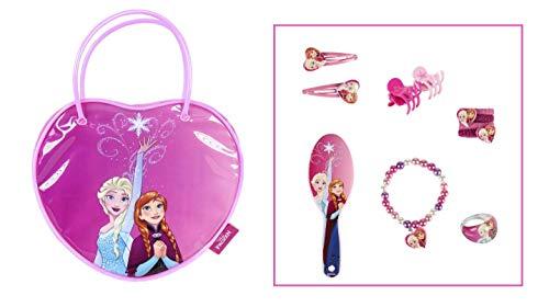Disney Frozen Elsa und Anna Schöne Reihe | Mädchen Daily Zubehör | Kostüm | Haar- und Schmuckzubehör | Armband | Ring | Haarspangen | Haarbänder | Haarbürste |