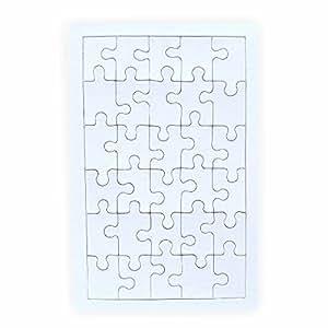 creleo 790089 puzzle zum bemalen viereck 30 teile 10 st ck selbst gestalten mit rahmen. Black Bedroom Furniture Sets. Home Design Ideas